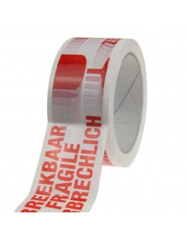 "PP tape ""Zerbrechlich"" 3 sprachen High Tack Low Noise"