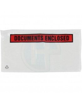 "Lieferscheintashen ""Documents enclosed"" DL 1/3-A4 225x122mm 1.000 Stk."